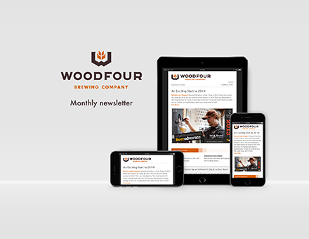 Woodfour Brewing Responsive Design by SlickArts